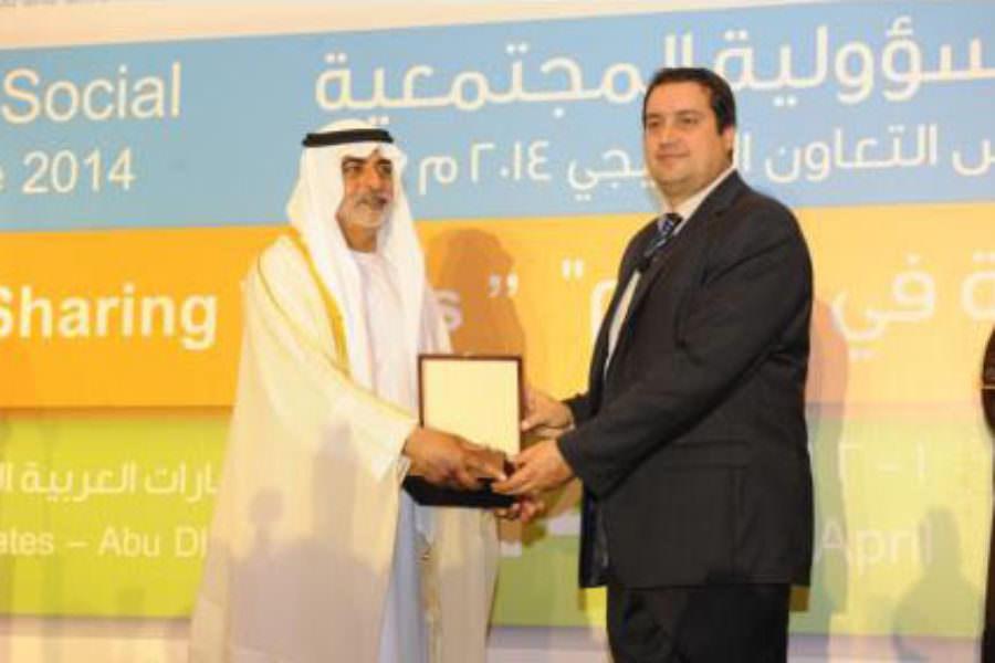 CSE President, Nikos Avlonas, awarded in Abu Dhabi during the CSR Forum