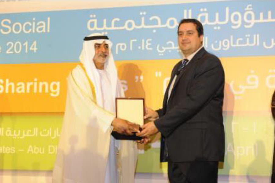 CSE President, Nikos Avlonas, awarded in Abu Dhabi during the CSR Forum