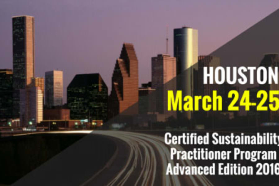 Leading speakers from NASA JSC in the new advanced Certified Sustainability Practitioner Program in Houston, TX