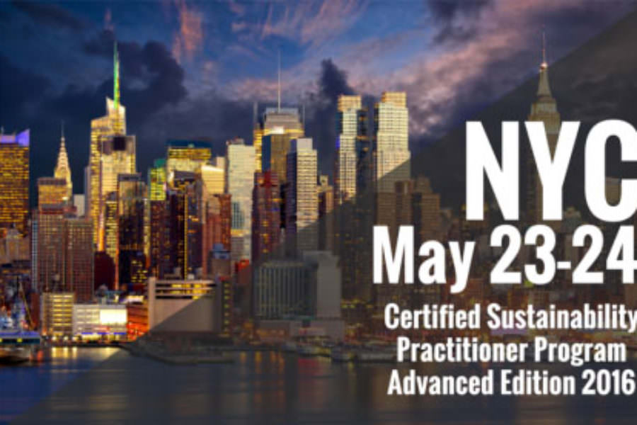 CSE delivers another successful session of the Certified Sustainability Practitioner Program in New York City!