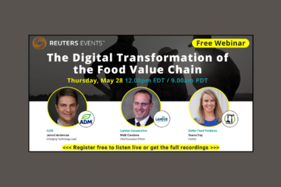 The Digital Transformation of the Food Value Chain in Reuters Events webinar