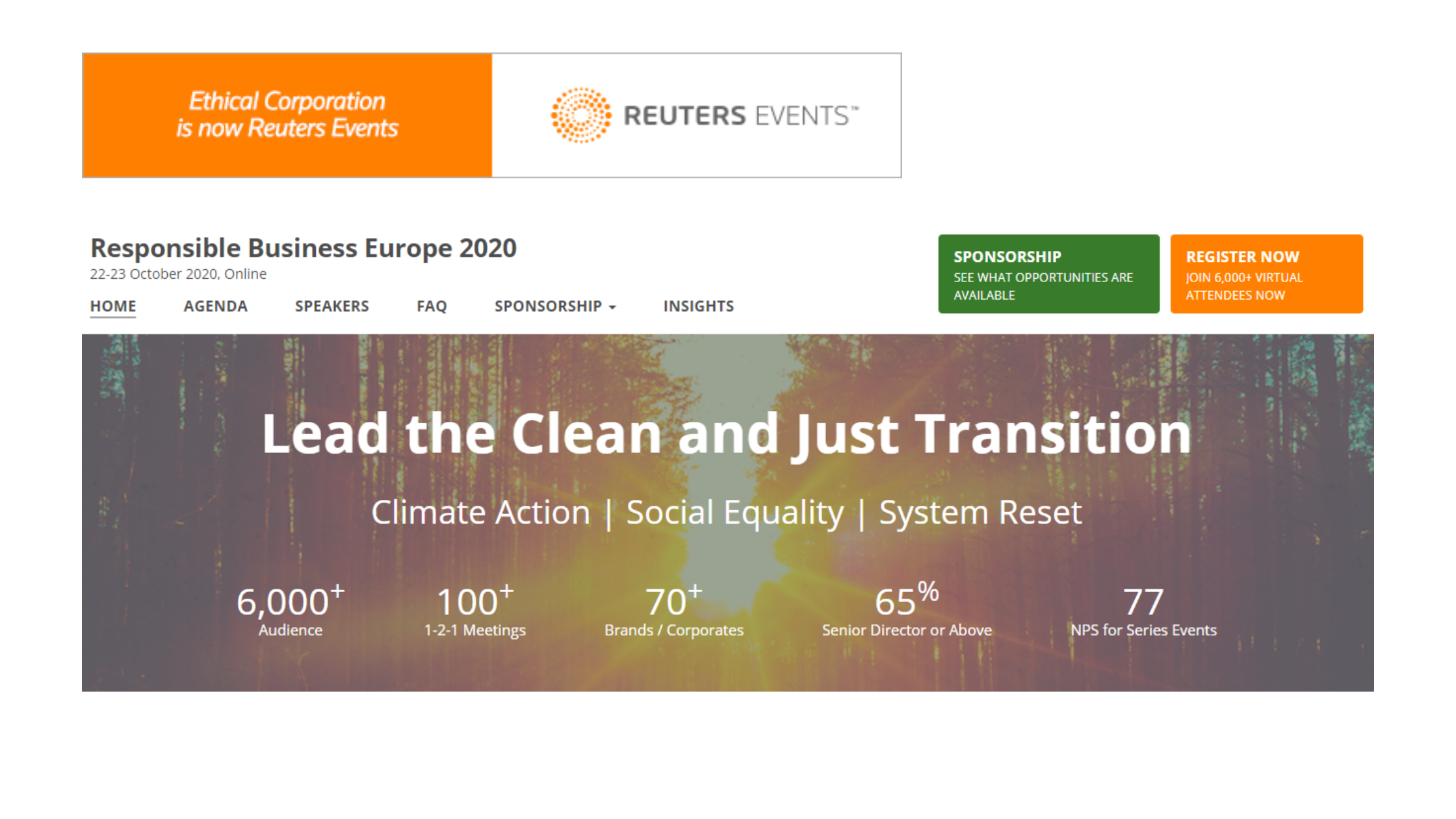 Reuters Events launches The Responsible Business Europe 2020