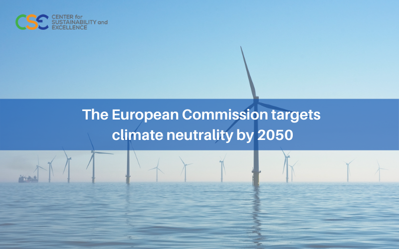 The European Commission targets climate neutrality by 2050