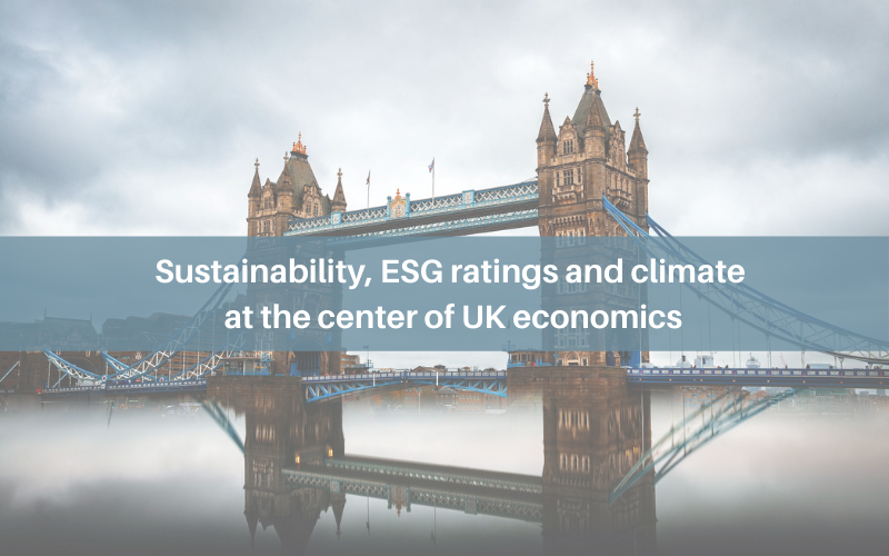 Sustainability, ESG ratings and climate at the center of UK economics
