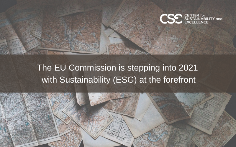 The EU Commission is stepping into 2021 with Sustainability (ESG) at the forefront