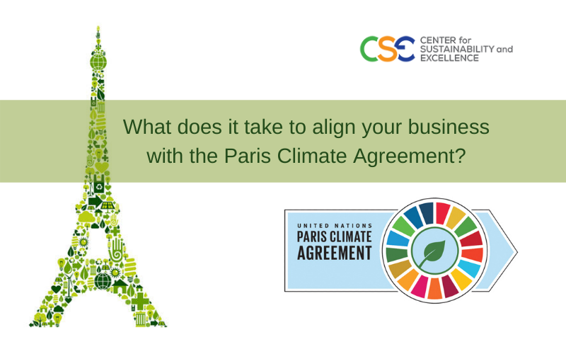 What does it take to align your business with the Paris Climate Agreement?