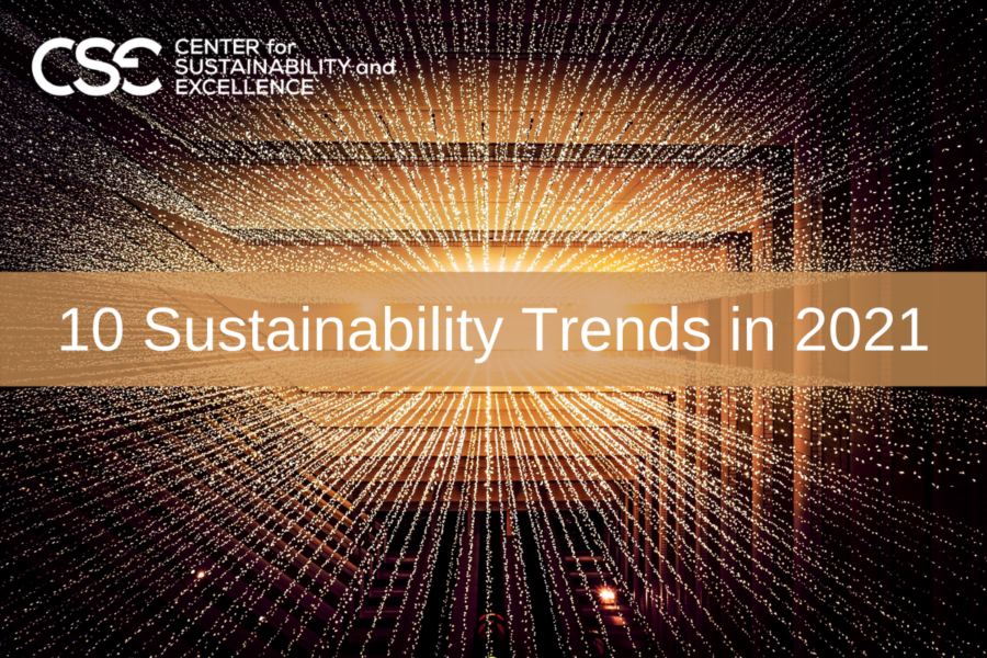 10 Trends that will shape Sustainability in 2021 and beyond