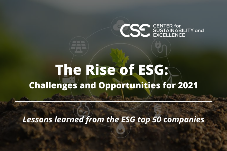 The Rise of ESG:  Challenges and Opportunities for 2021
