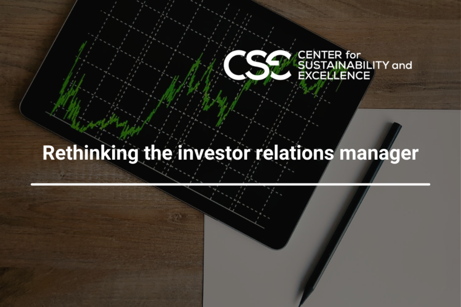 Rethinking the investor relations manager, ESG impact on corporate ratings is growing