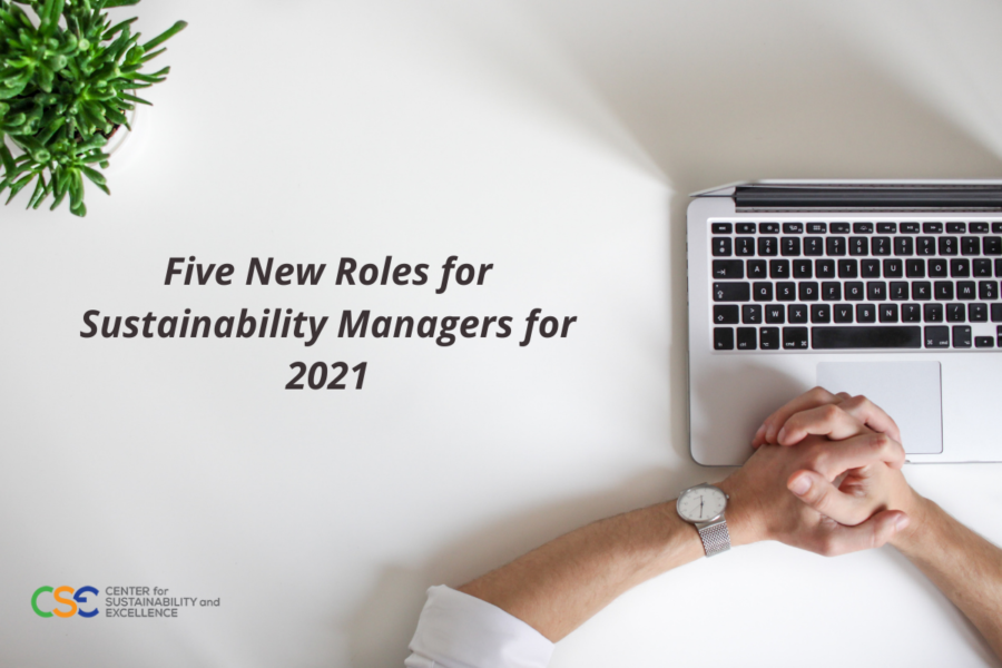Five New Roles for Sustainability Managers in 2021