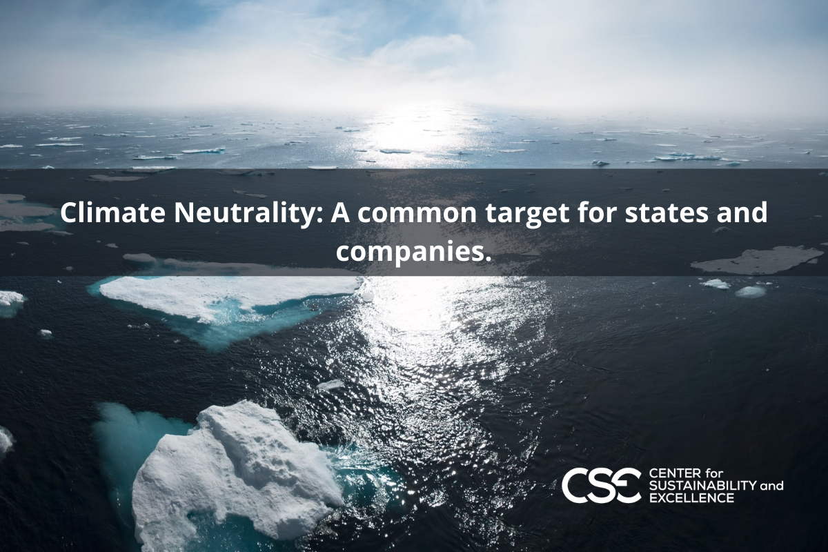 Climate neutrality: a common target for states and companies