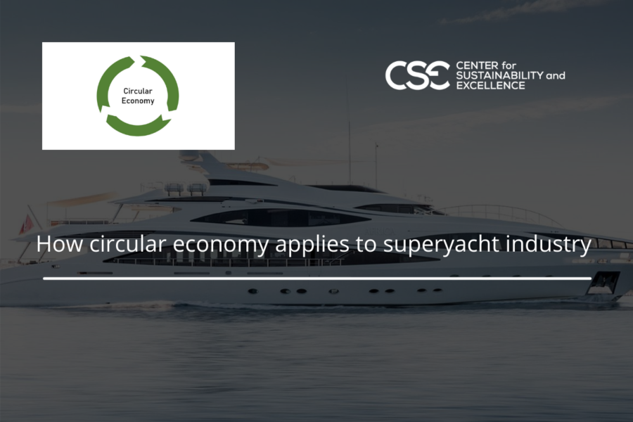 How circular economy applies to superyacht industry
