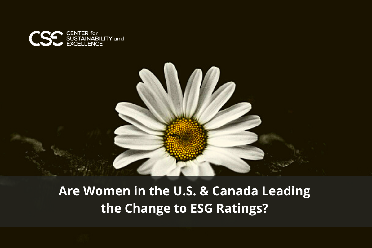 Are Women in the U.S. & Canada Leading the Change to ESG Ratings?