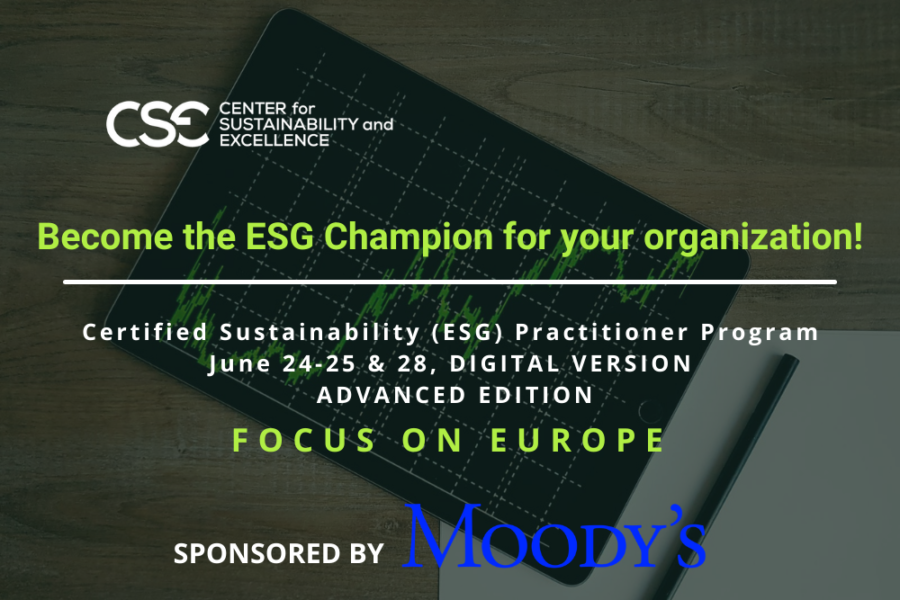 Become the ESG Champion for your organization!