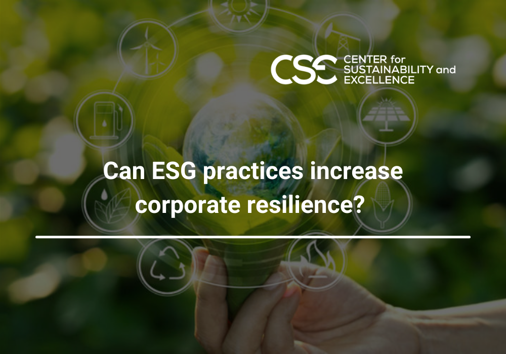 Can ESG practices increase corporate resilience?