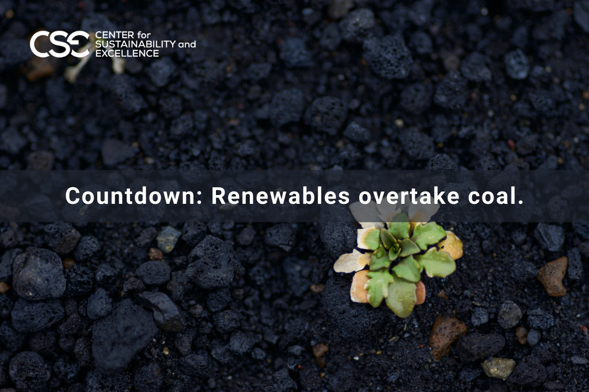 Five years countdown for renewables to overtake coal.