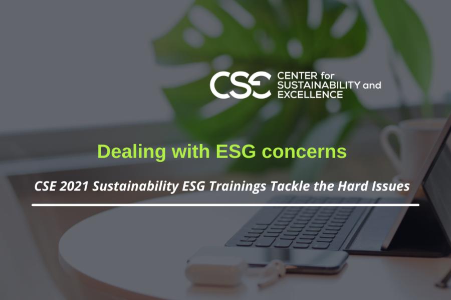 CSE 2021 Sustainability ESG Trainings Tackle the Hard Issues