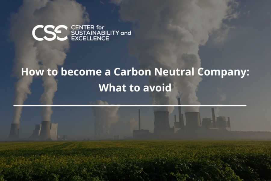 How to become a Carbon Neutral Company: What to avoid