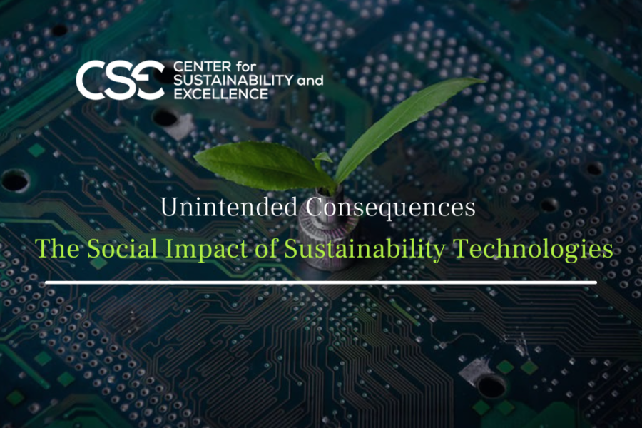 Unintended Consequences – the Social Impact of Sustainability Technologies
