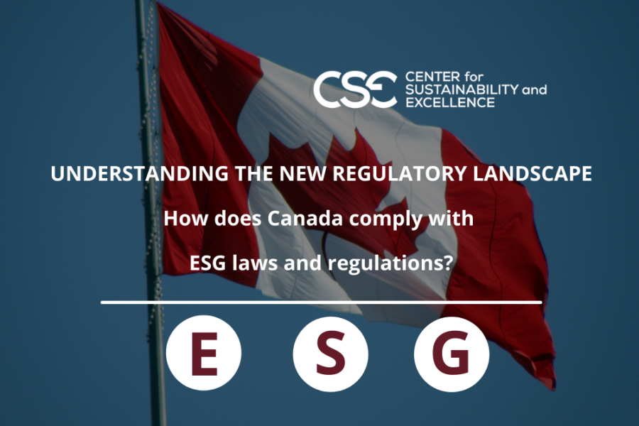 How does Canada comply with ESG laws and regulations?