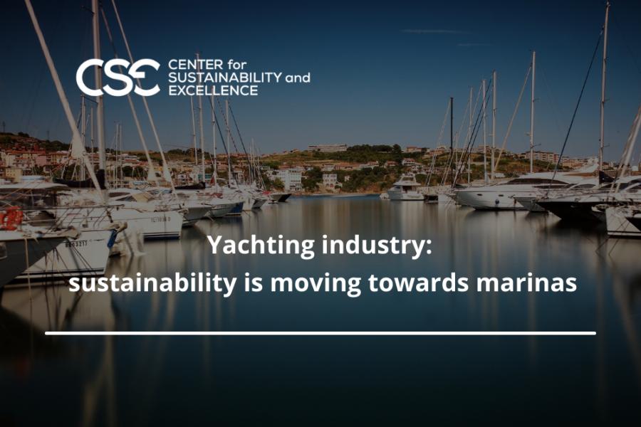 Yachting industry: sustainability is moving towards marinas