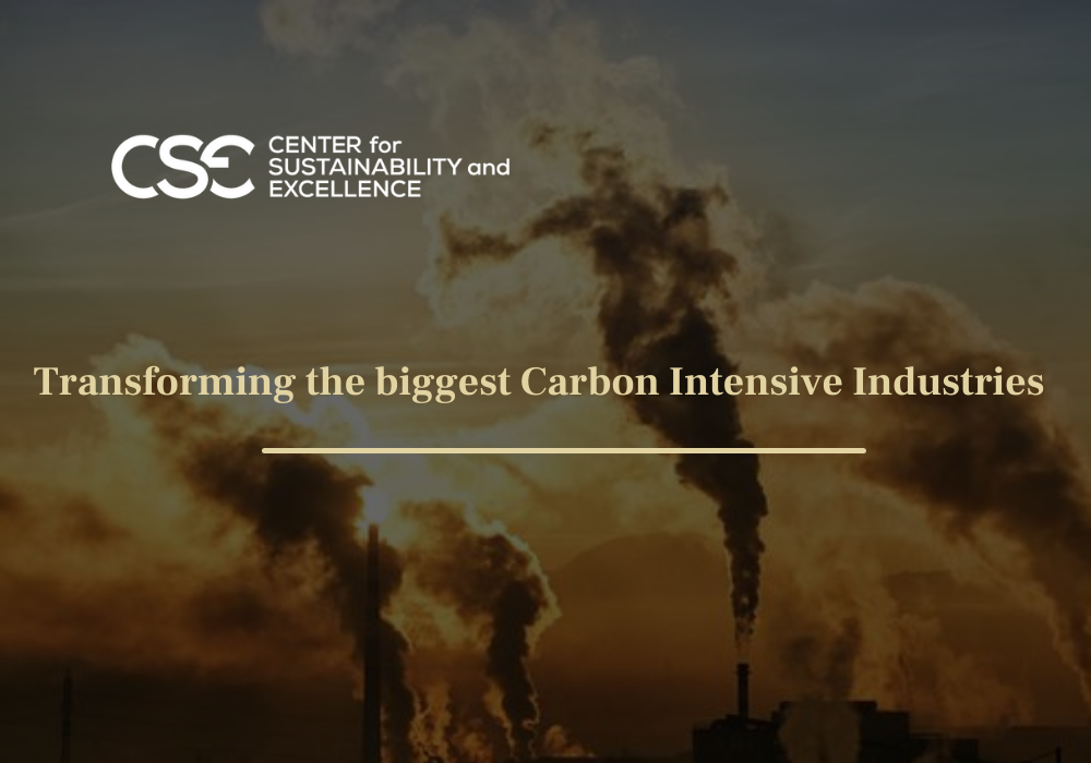 Transforming the biggest carbon emitting sectors for a zero-carbon future