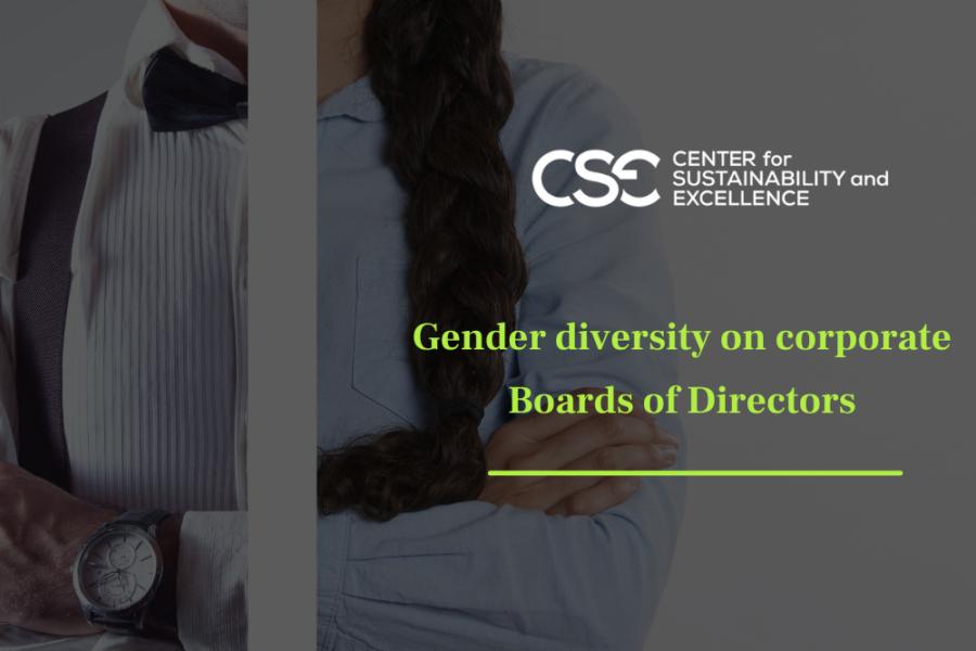 Gender diversity on corporate Boards of Directors