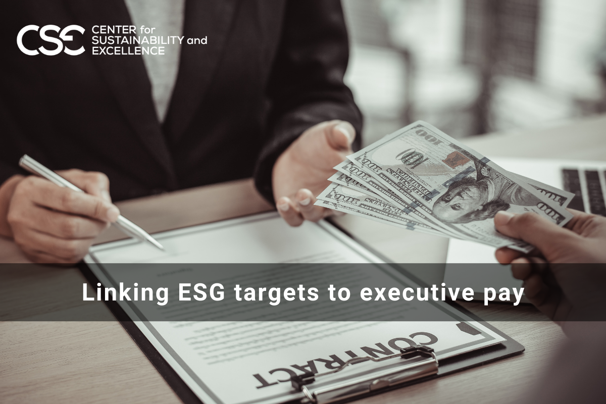 Linking ESG targets to executive pay